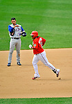 22 June 2008: Washington Nationals' infielder Ronnie Belliard rounds the bases after hitting a two-run homer in the seventh inning to tie the game at three against the Texas Rangers at Nationals Park in Washington, DC. The Rangers defeated the Nationals 5-3 in the final game of their 3-game inter-league series...Mandatory Photo Credit: Ed Wolfstein Photo