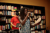 Sacrificial Poets presented a community wide poetry open mic at Flyleaf Books in Chapel Hill, N.C., Wednesday, July 6, 2011.