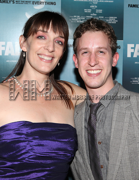 Julia Murney and Alex Wyse attending the Off-Broadway Opening Night Performance After Party for 'Falling' at Knickerbocker Bar & Grill on October 15, 2012 in New York City.