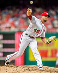 3 April 2017: Washington Nationals pitcher Blake Treinen closes out his first game of the season against the Miami Marlins on Opening Day at Nationals Park in Washington, DC. The Nationals defeated the Marlins 4-2 to open the 2017 MLB Season. Mandatory Credit: Ed Wolfstein Photo *** RAW (NEF) Image File Available ***