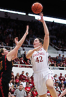 STANFORD, CA - January 22, 2011:  Sarah Boothe during Stanford's 95-51 victory over USC at Stanford, California on January 22, 2011.