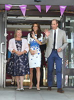 Catherine, The Duchess of Cambridge and Prince William, Duke of Cambridge visit Keech Hospice Care to help celebrate the facility's 25th Anniversary, Streatley, nr Luton, Bedfordshire on the 24th August 2016<br /> CAP/ROS<br /> &copy;Ross/Capital/MediaPunch