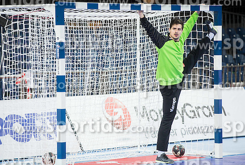 Matevz Skok of Slovenia during practice session of Team Slovenia on Day 1 of Men's EHF EURO 2016, on January 15, 2016 in Centennial Hall, Wroclaw, Poland. Photo by Vid Ponikvar / Sportida