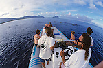 Delphine, Nilakanthan & Crew Observing Spinner Dolphins