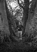 Marathon runner, John McLoughlin, N Ireland, training, December, 1973, 197312060754a<br />