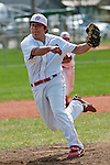 Weiser's J. Barron pitches in the first inning during the Vale-Weiser game on April 7, 2012 at Walter Johnson Memorial Field in Weiser, Idaho. Vale won the game 12-0 in five innings. Barron pitched the first two innings striking out two, walking three and giving up one hit and one run. At the plate Barron was 0-2.