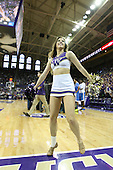 March 9, 2013:  Washington cheerleader Mallory Cracker pumped up the crowed during a timeout against UCLA.  UCLA defeated Washington 61-54 at Alaska Airlines Arena Seattle, Washington....
