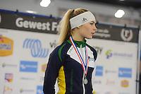 SCHAATSEN: HEERENVEEN: 03-02-2017, KPN NK Junioren, Podium Junioren A, 500m Dames, Jutta van Leerdam, ©foto Martin de Jong