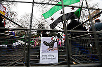 17.03.2012 - First Anniversary of the Syrian Revolution Demo and Pro-Assad (counter) Demo