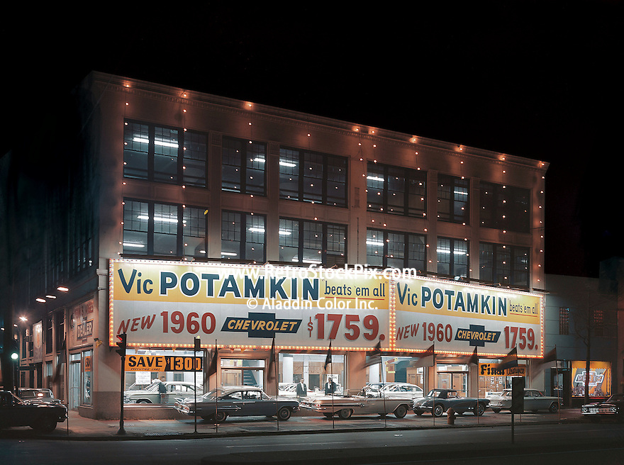 Vic Potamkin Chevrolet Car Dealership in PA. Retro Chevrolet night ...