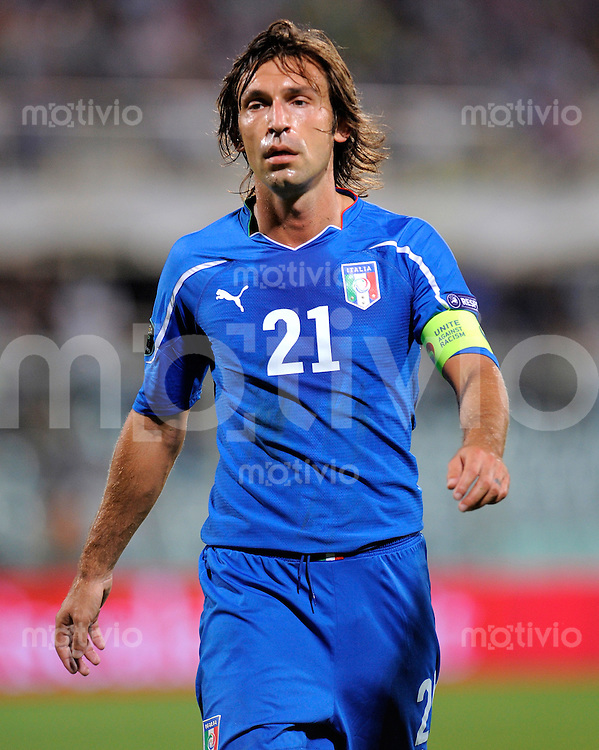 FUSSBALL INTERNATIONAL  EM 2012-Qualifikation  Gruppe C  07.09.2010 Italien - Faeroeer Inseln Andrea PIRLO (Italien)