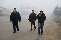 After crossing the Turkish-Greek border, illegal immigrants are arrested by officers of the EU borderpolice, Frontex. According to UNHCR, 38,992 immigrants arrived in Greece in the first 10 months of 2010, whereas in 2009 the number was only 7,574. According to Frontex, around 245 people tried to cross the border illegally every night during October.