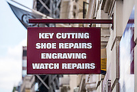 Timpson, shoe repair shop sign - Aug 2013.
