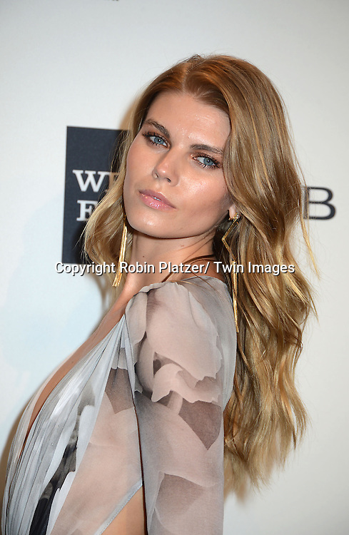 Maryna Linchuk attends the amfAR New York Gala on February 5, 2014 at Cipriani Wall Street in New York City.