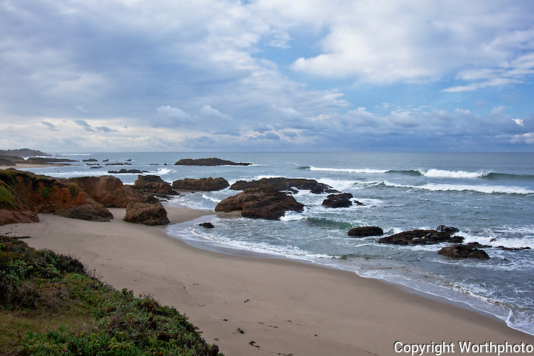The morning after a storm Pescadero State Beach south of San Francisco