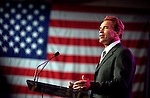 Newly elected California Arnold Schwarzenegger speaks to the crowd at the California Chamber of Commerce Luncheon held at the Sacramento Convention Center, following the swearing in ceremony, Monday, November 17, 2003.