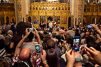 Orthodox Christians celebrate Easter at St George's Orthodox Cathedral, in Beirut, Lebanon. Christians make-up 35% of Lebanon's population but many feel their existence is under long-term threat in the country.