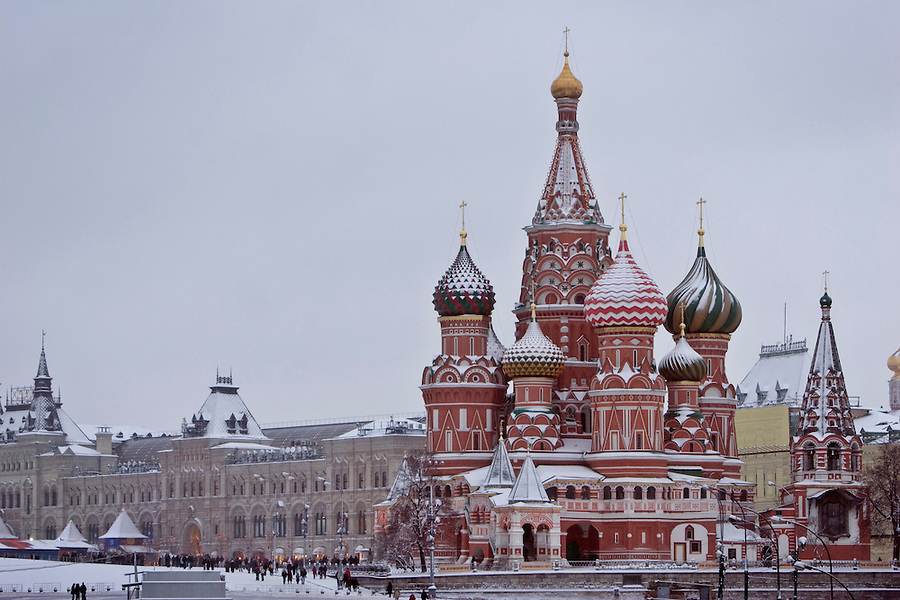 Image result for russian winter moscow st basil