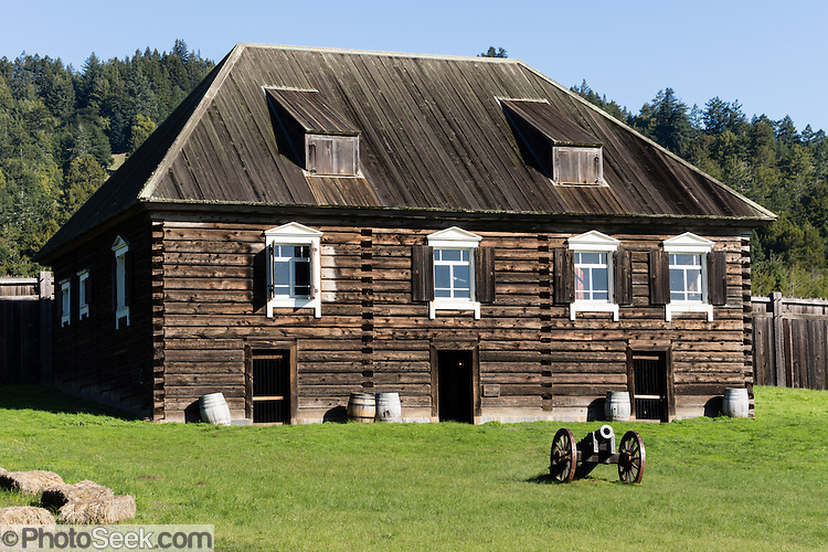 Kuskov House, Fort Ross, former Russian colony 1812-1842 ...