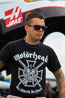 Aug 30, 2014; Clermont, IN, USA; NHRA top alcohol funny car driver Jonnie Lindberg during qualifying for the US Nationals at Lucas Oil Raceway. Mandatory Credit: Mark J. Rebilas-USA TODAY Sports