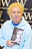 Gene Wilder actor and author appearance and book signing his book Kiss Me Like A Stranger <br /> at Waterstones Book store Oxford Street, London, Great Britain <br /> 7th June 2005 <br /> <br /> <br /> Gene Wilder was born <br /> Jerome Silberman<br /> June 11, 1933 in<br /> Milwaukee, Wisconsin, U.S. and he <br /> diedAugust 29, 2016 (aged 83)<br /> Stamford, Connecticut, U.S.<br /> cause of deathcomplications of Alzheimer's disease<br /> <br /> Photograph by Elliott Franks <br /> Image licensed to Elliott Franks Photography Services