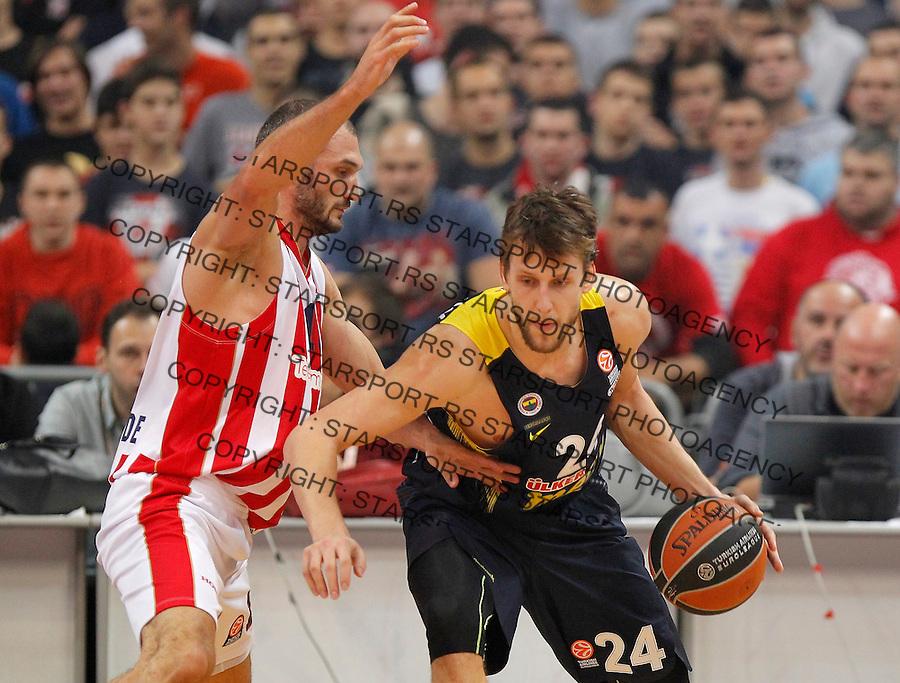 Kosarka Euroleague season 2015-2016<br /> Euroleague <br /> Crvena Zvezda v Fenebahce Istanbul<br /> Jan Vesely (R) and Marko Simonovic<br /> Beograd, 06.11.2015.<br /> foto: Srdjan Stevanovic/Starsportphoto &copy;