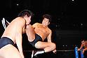 (R-L) Antonio Inoki, Kengo Kimura, DECEMBER 6, 1985 - Pro-Wrestling : Antonio Inoki in action of Enzuigiri against Kengo Kimura during the New Japan Pro-Wrestling event at Ryogoku Kokugikan in Tokyo, Japan. (Photo by Yukio Hiraku/AFLO)
