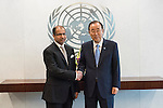 The Secretary-General with H.E. Mr. Salim Al-Jubouri, Speaker of Parliament, Iraq