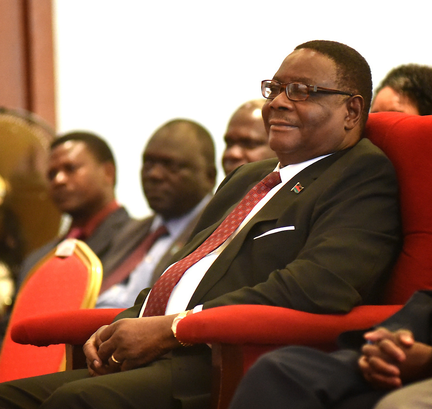 ABLI FORUM 2015. LILONGWE, MALAWI. DAY ONE. MALAWI STATE PRESIDENT, HIS EXCELLENCY, PRESIDENT ARTHUR PETER MUTHARIKA.15/9/2015. PHOTO BY CLARE KENDALL.