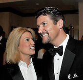 Washington, D.C. - May 9, 2009 -- Todd Palin, husband of Alaska Governor Sarah Palin, right, shares some thoughts with Greta Van Susteren, left, as they attend one of the parties prior to the White House Correspondents Dinner in Washington, D.C. on Saturday, May 9, 2009..Credit: Ron Sachs / CNP.(RESTRICTION: NO New York or New Jersey Newspapers or newspapers within a 75 mile radius of New York City)