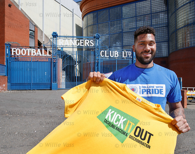 Wes Foderingham at Ibrox as he takes up his role as one of Kick It Out's 'Next 20' ambassadors and delivers an anti-discrimination workshop to local schoolchildren from St Saviour's Primary School in Glasgow in the Rangers study and support centre