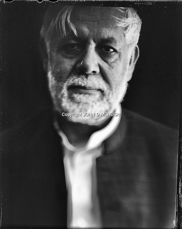"Commander Assadullah Falah, a former Mujahedeen leader and now a politician, is seen at his home in Kabul, 22 August 2012. This portrait was shot on a 5x4 Linhof Technika IV, circa 1959, and a Schneider Kreuznach 270mm lens, circa 1952, with front tilt, and is part of a series entitled ""Putting an Afghan face on the war."" (John D McHugh)"