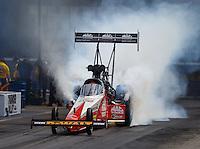 Jun 18, 2016; Bristol, TN, USA; NHRA top fuel driver Doug Kalitta during qualifying for the Thunder Valley Nationals at Bristol Dragway. Mandatory Credit: Mark J. Rebilas-USA TODAY Sports