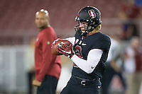 STANFORD, CA - October 8, 2016: Trenton Irwin at Stanford Stadium. The Washington State Cougars defeated the Cardinal 42-16.