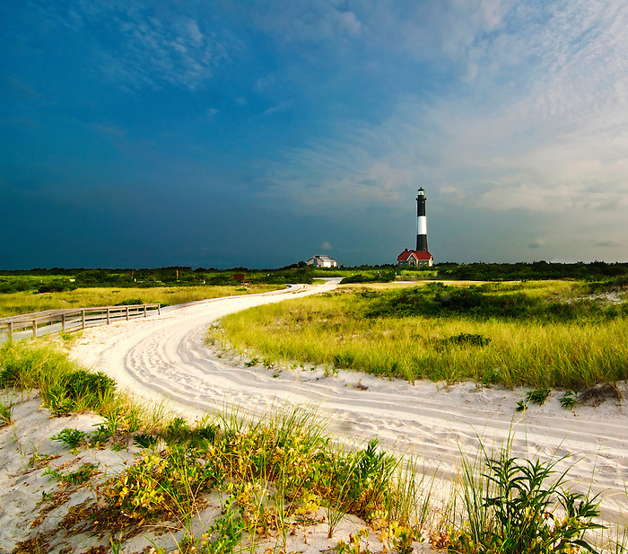 Road to the Fire Island Lighthouse, Long Island, New York