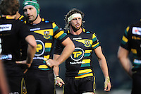 Tom Wood of Northampton Saints looks on during a break in play. European Rugby Champions Cup match, between Northampton Saints and Leinster Rugby on December 9, 2016 at Franklin's Gardens in Northampton, England. Photo by: Patrick Khachfe / JMP