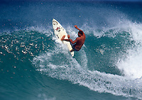 Sunny Garcia (HAW) surfing Off The Wall on Oahu's North Shore, Hawaii. circa 1995 Photo: joliphotos.com
