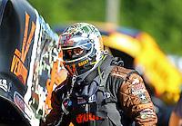 May 13, 2016; Commerce, GA, USA; NHRA funny car driver Matt Hagan during qualifying for the Southern Nationals at Atlanta Dragway. Mandatory Credit: Mark J. Rebilas-USA TODAY Sports