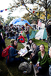 Students gather at the Occupy UC Davis encampment for a general assembly on the Quad, November 28, 2011.
