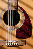 Acoustic guitar in close-up