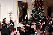 Us President Barack Obama delivers remarks at an event for the 2016 Kennedy Center Honorees, in the East Room of the White House, December 4, 2016. The honorees include pianist Martha Argerich, actor Al Pacino, singer Mavis Staples, singer James Taylor and Eagles band members Don Henley, Timothy B. Schmit, Joe Walsh. <br /> Credit: Aude Guerrucci / Pool via CNP