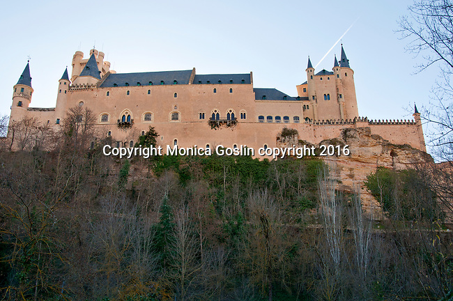 Alcazar, the picturesque castle, originally built as an Arab fort, later used as a royal palace and then military academy; Segovia, Spain