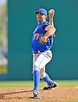 10 March 2012: New York Mets pitcher D.J. Carrasco on the mound during a Spring Training game against the Washington Nationals at Space Coast Stadium in Viera, Florida. The Nationals defeated the Mets 8-2 in Grapefruit League play. Mandatory Credit: Ed Wolfstein Photo