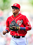 25 April 2010: Washington Nationals' shortstop Ian Desmond in action against the Los Angeles Dodgers at Nationals Park in Washington, DC. The Nationals shut out the Dodgers 1-0 to take the rubber match of their 3-game series. Mandatory Credit: Ed Wolfstein Photo
