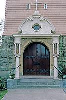St. John's Episcopal Church, Petaluma CA.--Entrance. Ernest Coxhead, 1890.  Photo '83.