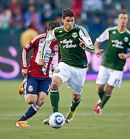 CARSON, CA – June 3, 2011: Portland Timbers midfielder Sal Zizzo (7) move the ball up the pitch during the match between Chivas USA and Portland Timbers at the Home Depot Center in Carson, California. Final score Chivas USA 1, Portland Timbers 0.