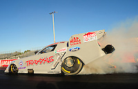 Jan. 19, 2012; Jupiter, FL, USA: NHRA funny car driver Courtney Force during testing at the PRO Winter Warmup at Palm Beach International Raceway. Mandatory Credit: Mark J. Rebilas-