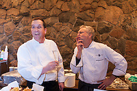 Chefs Jeff Dueck  and Brad Long at FoodShare Toronto's Recipe for Change, February 28,  2013