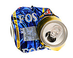 Crushed Can of Fosters Lager - Oct 2009