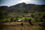 A remote village outside of Uspantan, Guatemala, on March 28, 2012. Many indigenous Guatemalans were accused by the government of harboring leftist guerrillas. Villagers here fled to the mountains where they lived for 12 years when the military came and burned their homes, raped the women and forced men into civic patrols.